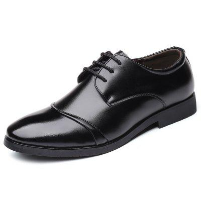 Four Seasons Men's Fashion Business Casual Shoes Leather Shoes Pointed Shoes