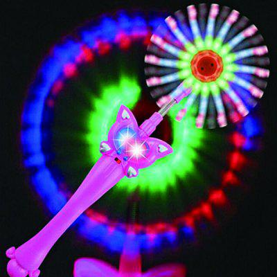 LED Music Spinning Windmill Glows Toys Geschenk für Kinder