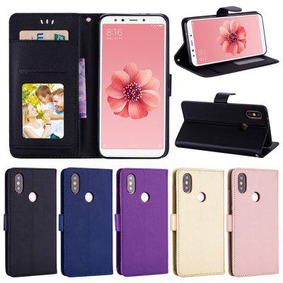 Solid Color PU Scratch-resistant Mobile Phone Holder Case for Xiaomi Redmi S2