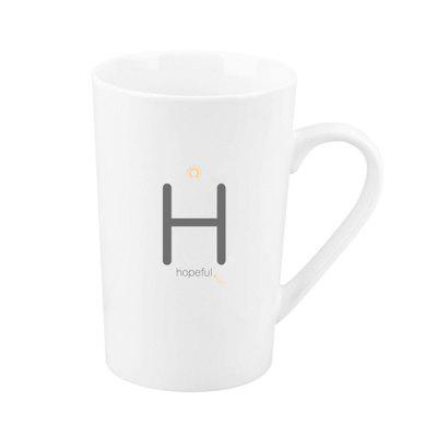 Large Capacity Household Tea Cup Letter H