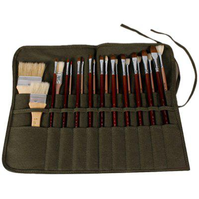 Canvas Water Chalk Curtain Oil Brush Pen Bag Storage Bag