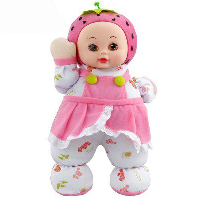 Interactive Sleep Appease Strawberry Doll Plush Toy Birthday Christmas Gift