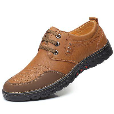 Men Comfortable Leather Shoes Lace-up Casual