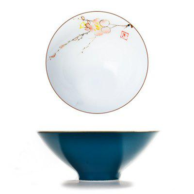 Glaze Porcelain Personal Cup Bucket Single Cup Kung Fu Tea Set Owner Hand-painted Small Tea Cup