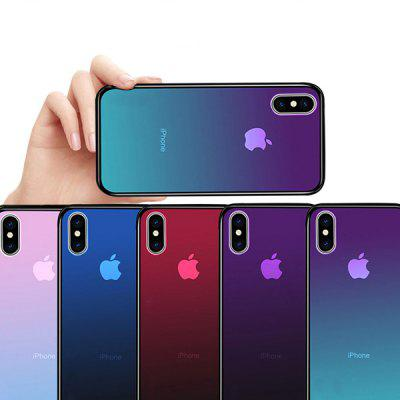 All-inclusive Gradient Glass Anti-drop Mobile Phone Case for iPhone XS