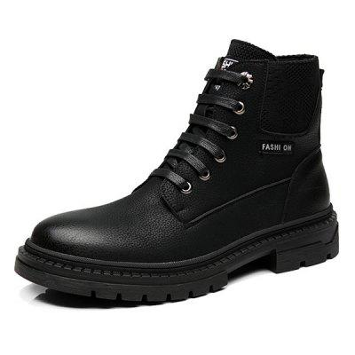 MUHUISEN ZYG02 Uomo Stivali con lacci High-top Durable