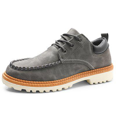 Men's Leather Casual Shoes Trend Durable