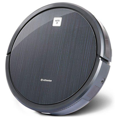 Gearbest Alfawise V8S Robot Vacuum Cleaner Dual SLAM - Black No Blind Area Since with Gyroscope Position Sensing Detector