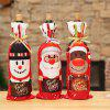 Christmas Decorations Red Wine Bottle Cover - RED