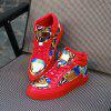 High-top Metal Plate Shoes - RED