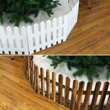 a62 christmas decoration wooden fence christmas scene layout window