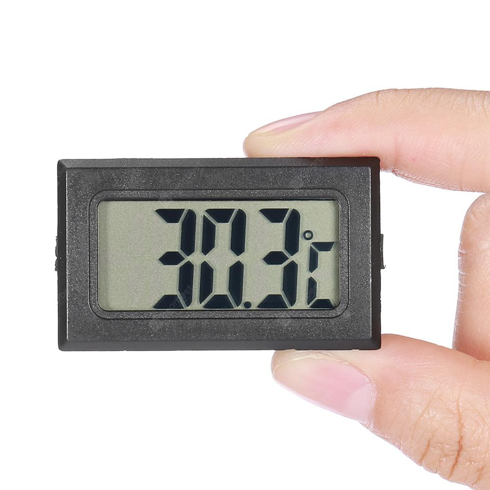 Portable LCD Digital Thermometer - Black