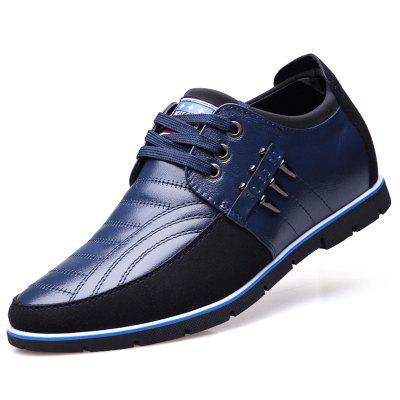 Men Business Casual Leather Shoes Comfortable Lace-up