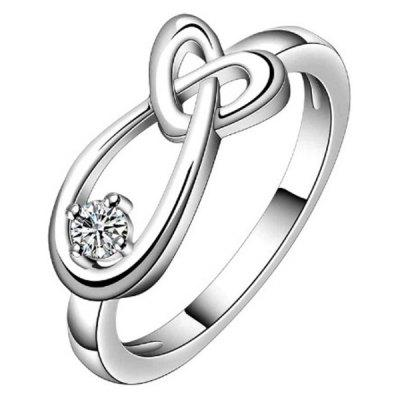 Water Drop Heart Shaped Interlocking Ring