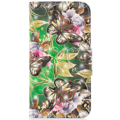 PU Leather 3D Painted Protective Phone Cover for iPhone XR