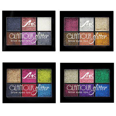 Makeup 6 Color Eyeshadow Waterproof Not Blooming Pearly Eye Shadow Set