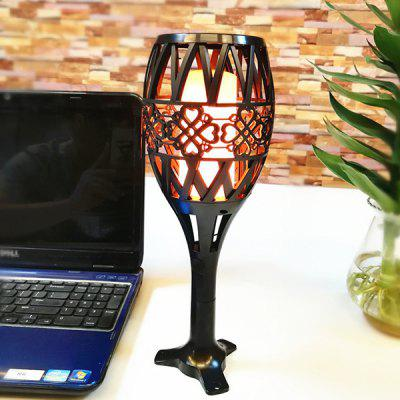 USB Rechargeable Solar Power Flame Shape Light for Garden