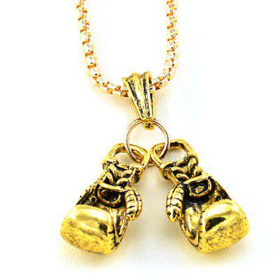 Male Double Glove Alloy Casting Pendant Fashion Personality Necklace