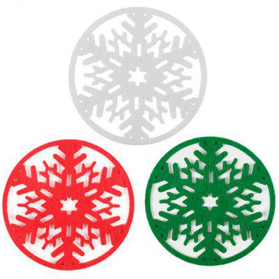 Festival Decorations Christmas Snowflakes Coaster 6st