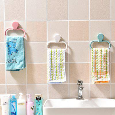 Nail-free Paste Round Kitchen Towel Rack