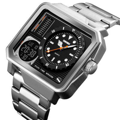 Skmei 1392 Male Multi-function Outdoor Double Display Business Big Dial Waterproof Electronic Watch