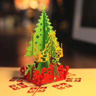Creative Christmas Card Three-dimensional Christmas Tree Greeting Card