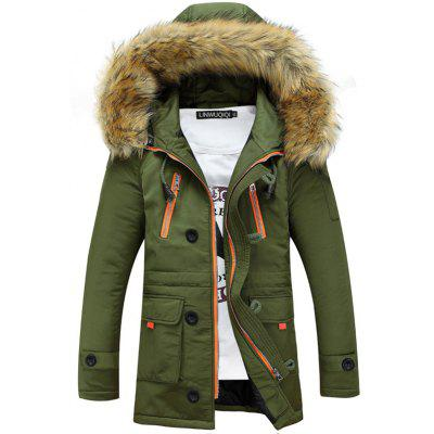 Men Cotton Winter Trend Down Cotton Pad Thick Jacket