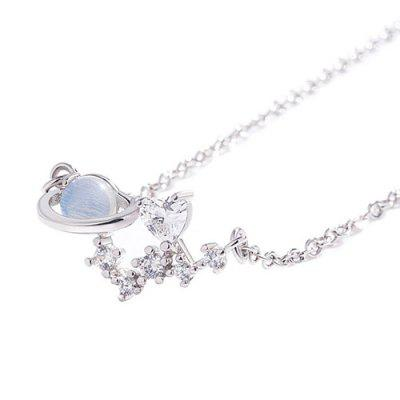 Blue Planet Exquisite Moonstone Blue Series Girl Necklace