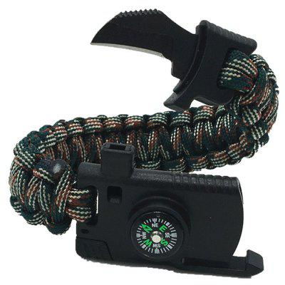 Umbrella Rope Outdoor Survival Compass Bracelet