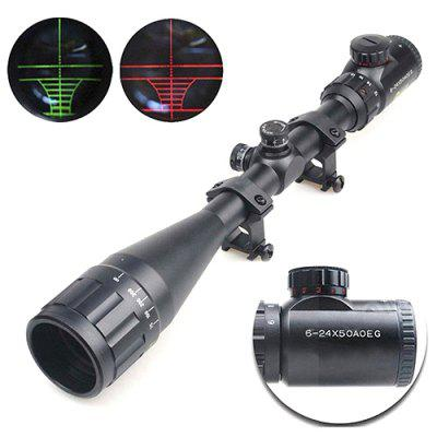 6 - 24 x 50AOEG 6 - 24 Times Crosshair Red and Green Light Sighting Device