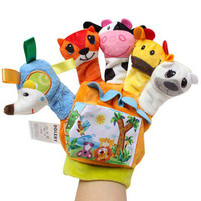 Baby Cartoon Animal Finger Set with Cloth Book Early Education Parent-child Interaction Toy