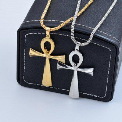 Hip Hop Necklace Egyptian Anhe Key Cross Pendant Necklace