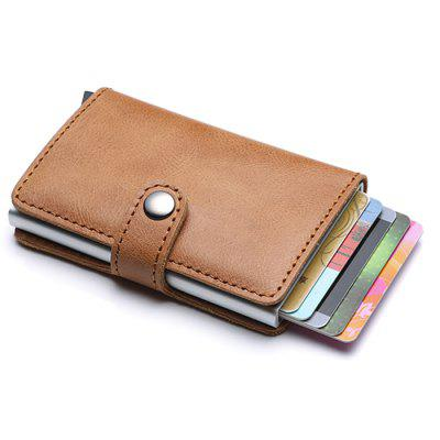 Leather Aluminum Alloy Antimagnetic Credit Card Bag