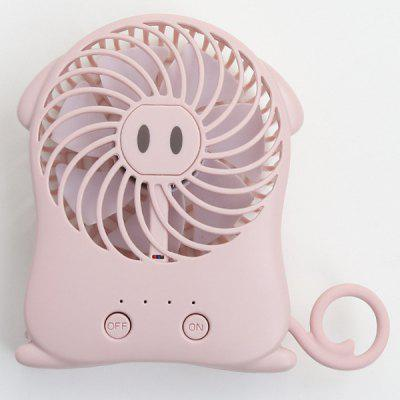 Cute Mini Portable Hand Holding USB Rechargeable Small Electric Fan Student Dormitory Air Conditioning