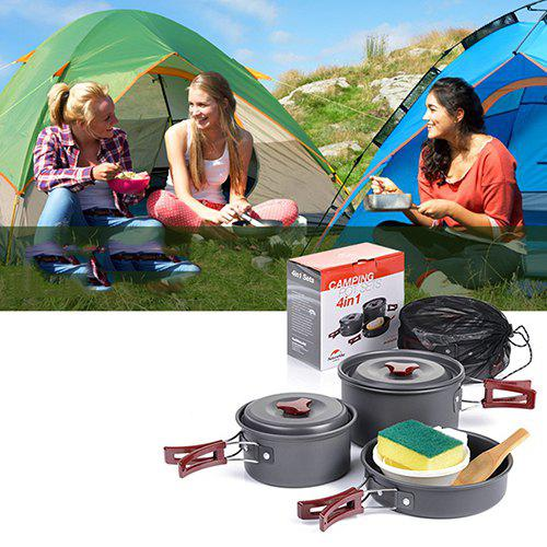 NatureHike Outdoor Camping Pot Cooker Portable Combination Set for 2 - 3 People
