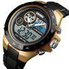 Skmei 1429 Male Outdoor Multi-function Dual Display Chronograph Stopwatch Electronic Watch - BLACK