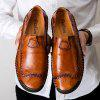 Men's Slip-on Loafers Casual Peas Oxford Shoes - DEEP BROWN
