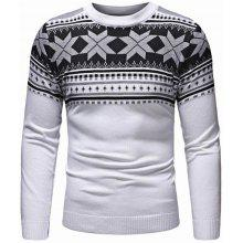15 off christmas leaf decoration thickening mens round neck pullover casual sweater - Classic Christmas Sweaters