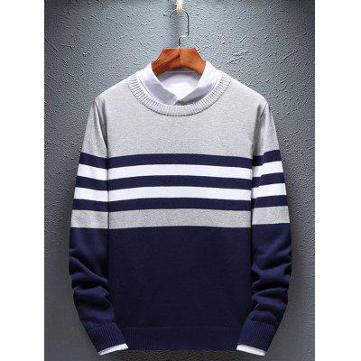 Men Round Neck Sweater for Autumn and Winter