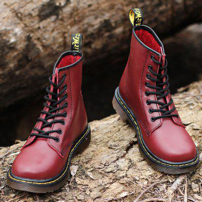 GearBest coupon: Fashion Solid Color Durable Martin Boots