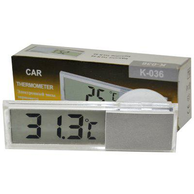 Transparent Liquid Crystal Display Suction Cup Type Car Thermometer