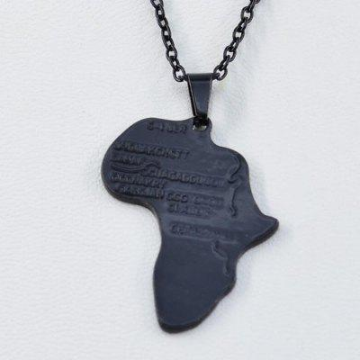 Fashion Africa Map Hip Hop Necklace Wish Pendant