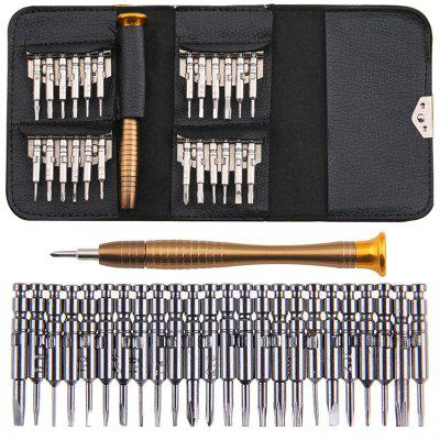 25 In One Combination Screwdriver Batch Bag Style Set Mobile Phone Notebook Glasses Repair Teardown Tool Set