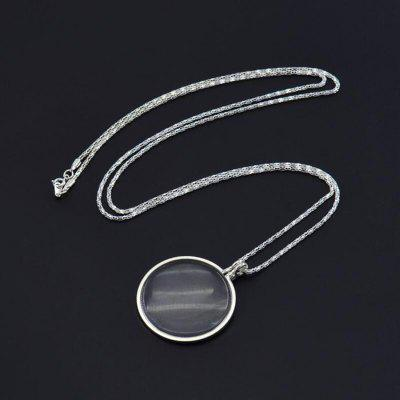 Retro Round Magnifying Glass Necklace Reading Newspaper Hanging Pendant