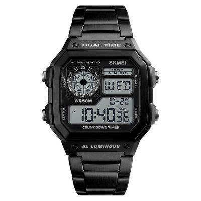 Skmei 1335 Male Business Table Outdoor Sports Personality Square Digital Display Electric Watch