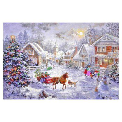 DIY Full Diamond Christmas Snow Scene Halloween Witch Painting