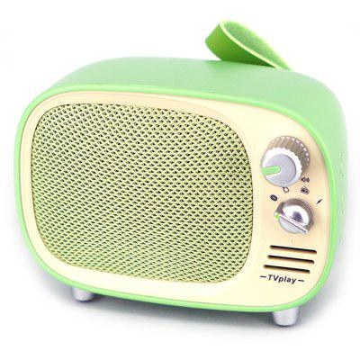 TV1 Bluetooth Speakers Portable with FM Radio - GREEN