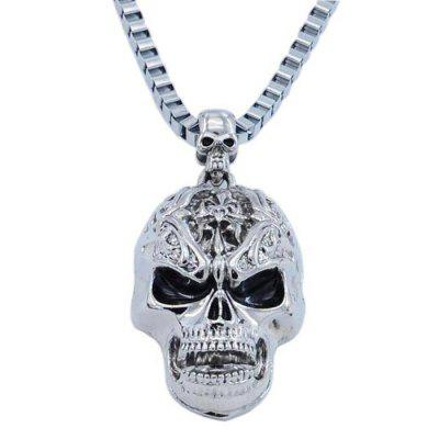 Male Hip Hop Skull Non-mainstream Necklace