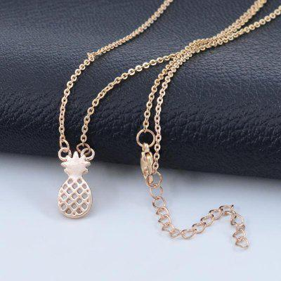 Hollow Pineapple Alloy Plating Fruit Pineapple Pendant Clavicle Necklace