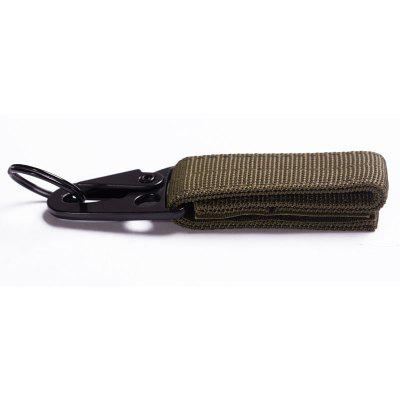 Outdoor Tactical Nylon Webbing Hang Buckle Army Fan Belt Multi-function Carabiner Eagle Molle Hook